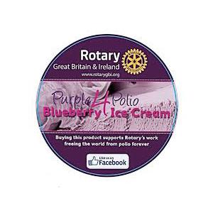 Purple for Polio Ice Cream