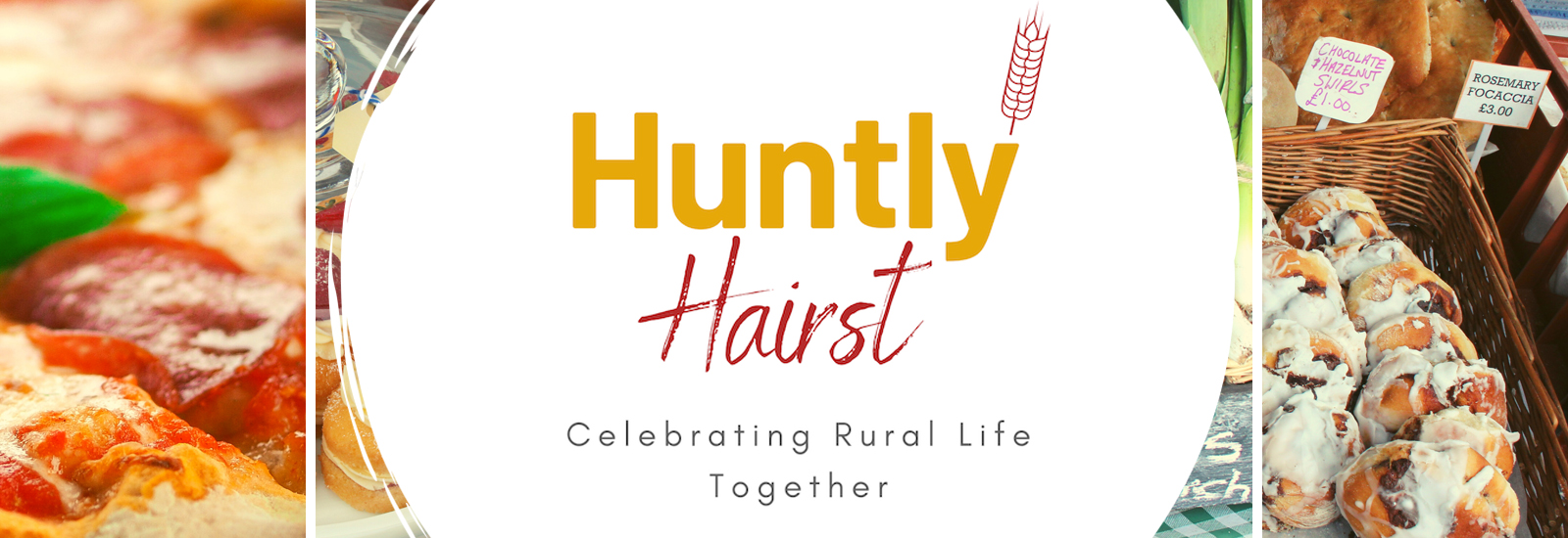 Huntly Hairst homepage banner and logo